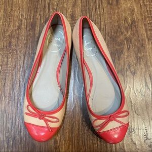 Jack Rogers coral and beige  ballet flats size 7
